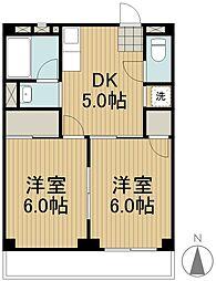 武蔵野エステート[1階]の間取り