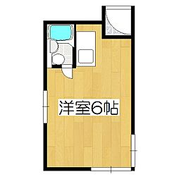 セゾン衣笠[305号室]の間取り