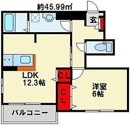 ソレーユ上曽根B[1階]の間取り