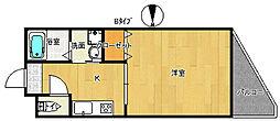 パークサウス[5階]の間取り