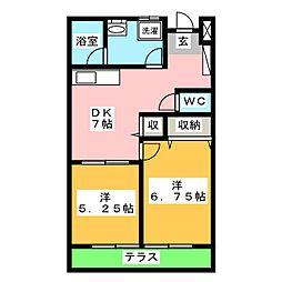 CASA白井[2階]の間取り
