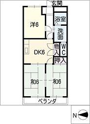 名東クレール[2階]の間取り