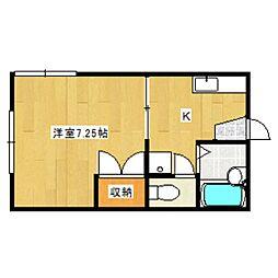 ホワイトハウス8[2階]の間取り