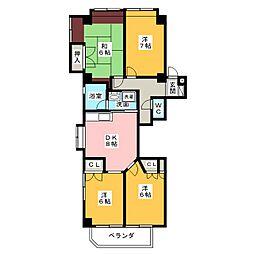 シャレー本郷[3階]の間取り
