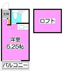 埼玉県朝霞市根岸台1丁目の賃貸アパートの間取り