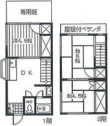 コーポ羽村[3号室]の間取り