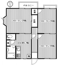 ファミーユ広瀬[102号室号室]の間取り