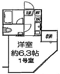 東京都江戸川区平井4丁目の賃貸アパートの間取り