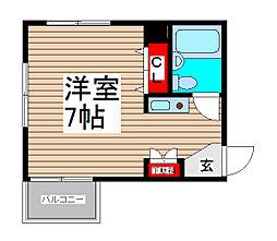 コスモシティ南浦和[2階]の間取り