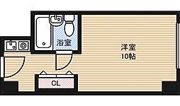 ステュディオ新大阪[9階]の間取り