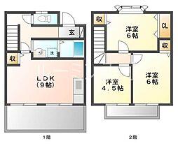 [テラスハウス] 兵庫県神戸市西区池上2丁目 の賃貸【/】の間取り