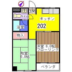 大野マンション[202号室]の間取り