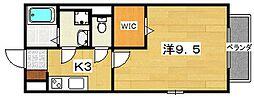 セジュールNAKAMURA[107号室]の間取り