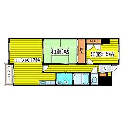北海道札幌市東区北二十六条東8丁目の賃貸マンションの間取り