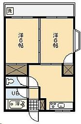 福富コーポ[102号室]の間取り