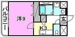 ウエストヒル21[102 号室号室]の間取り