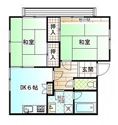 〜閑静な住宅地 花見堂ホームII〜[2階]の間取り
