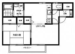 神奈川県川崎市多摩区生田4丁目の賃貸アパートの間取り