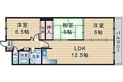 プレール桜塚[302号室]の間取り