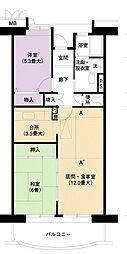 URアーバンラフレ小幡5号棟[12階]の間取り