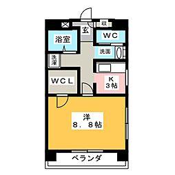 プランドール桜台[3階]の間取り