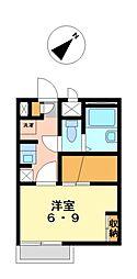 兵庫県姫路市白国5丁目の賃貸アパートの間取り