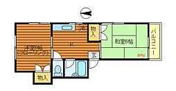 東京都三鷹市牟礼3丁目の賃貸アパートの間取り