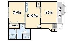 ハイツサイドパーク[1階]の間取り