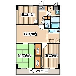 神奈川県座間市入谷1丁目の賃貸マンションの間取り