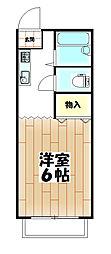 竜ヶ崎アーバンヒル[206号室]の間取り