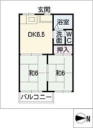 タウニー本郷[1階]の間取り
