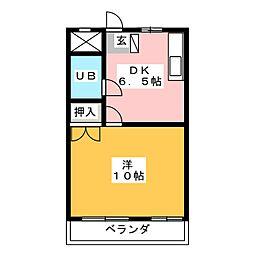 コーポ田村[3階]の間取り