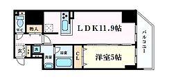 プレサンス阿波座駅前 4階1LDKの間取り