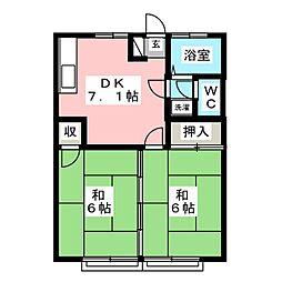 ファミール青葉[2階]の間取り
