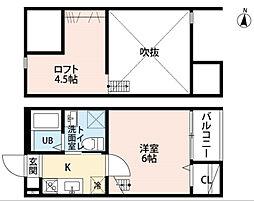 Casa Principe II 2階1SKの間取り