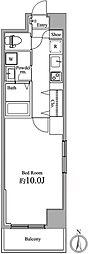 東京メトロ東西線 竹橋駅 徒歩3分の賃貸マンション 6階1Kの間取り