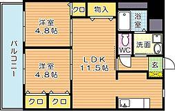 シェアンジュ21[2階]の間取り