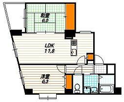 ロザーンジュ堀川[9階]の間取り