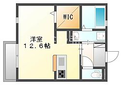 兵庫県三木市福井2丁目の賃貸アパートの間取り