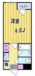 COM.Y.S(コム)[206号室号室]の間取り