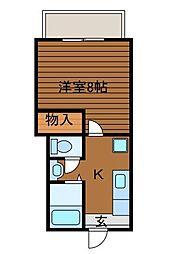 ヒューゲルハウスF[2階]の間取り