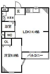 愛知県名古屋市中川区松年町4丁目の賃貸マンションの間取り