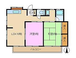 神奈川県横浜市泉区中田西2丁目の賃貸アパートの間取り