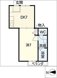 コーポリベルテ[2階]の間取り