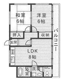 KJマンション[301号室]の間取り
