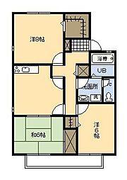 池田ファミリーゼーション[A202号室]の間取り