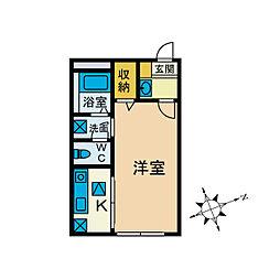 ガラージュ湘南[2階]の間取り