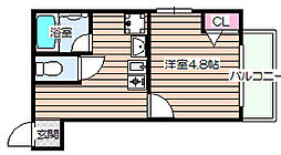 Nissyo福島[2階]の間取り