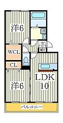 フェリーチェ ヴィータA[2階]の間取り