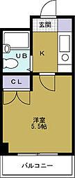 ソシオコート九条[5階]の間取り